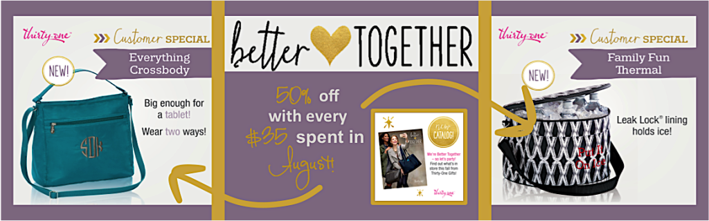 Thirty-One Gifts – August Special - Family Fun Thermal and Everything Crossbody