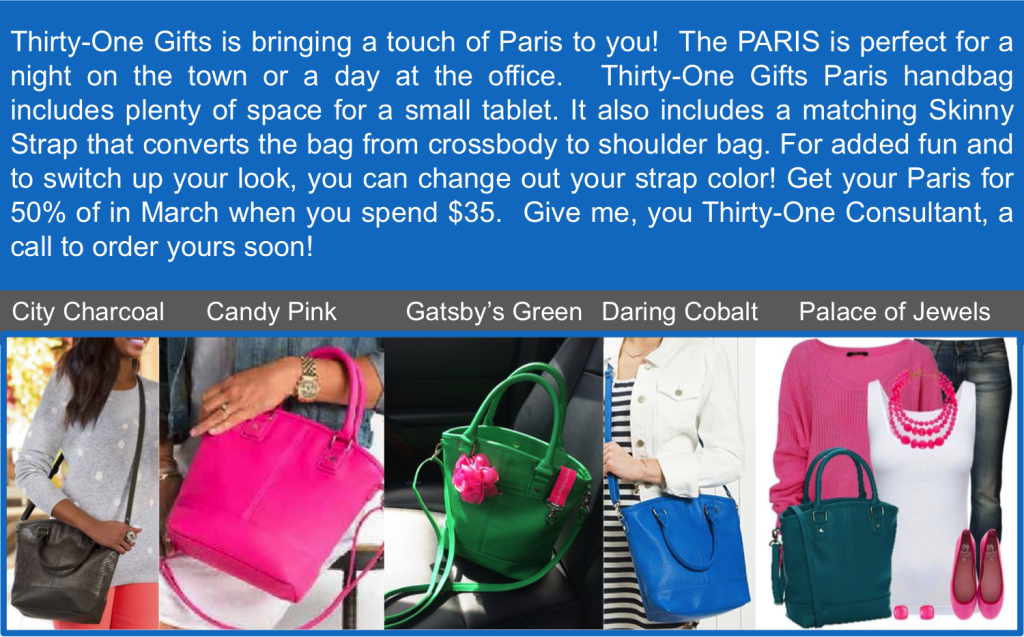 Thirty-One Gifts Paris