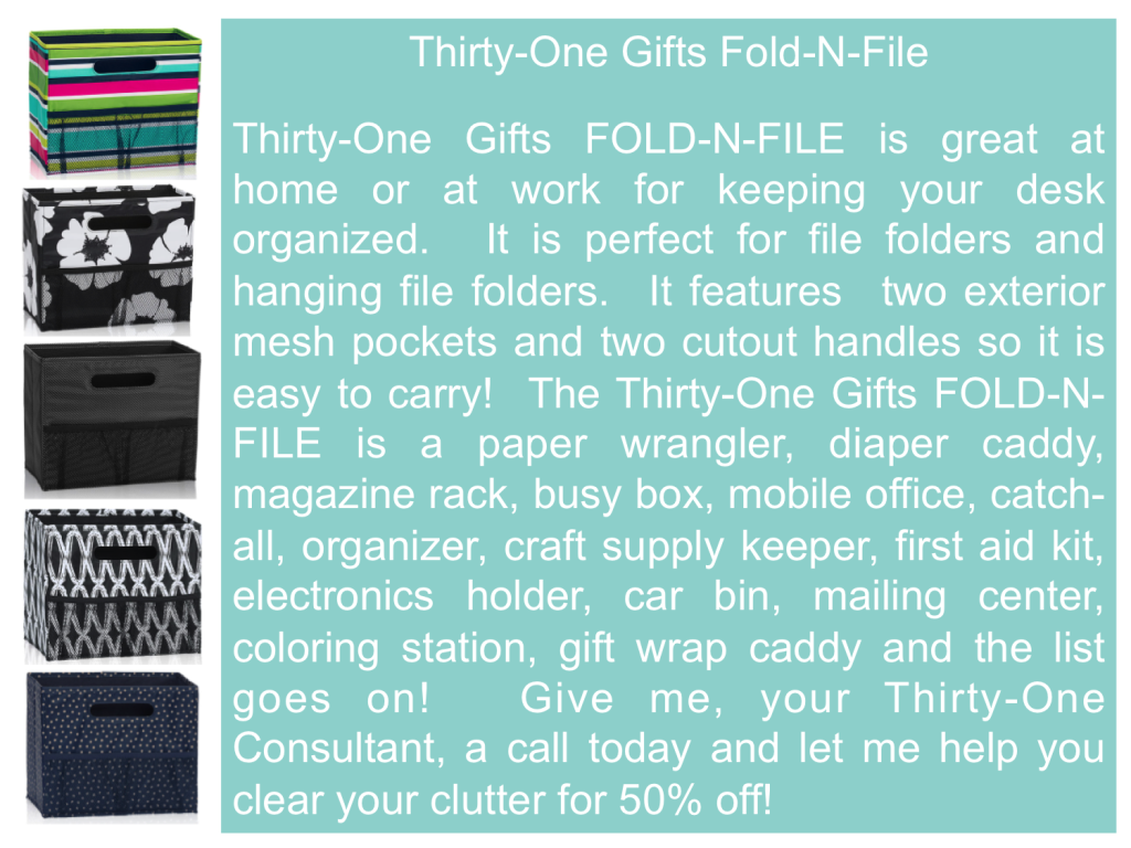 Thirty One Gifts Fold N File