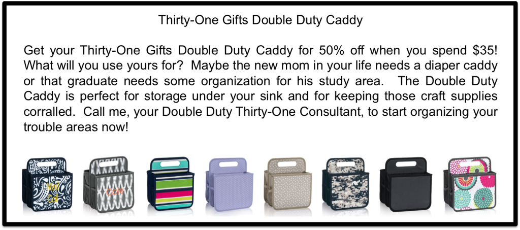 Thirty-One Gifts Double Duty Caddy