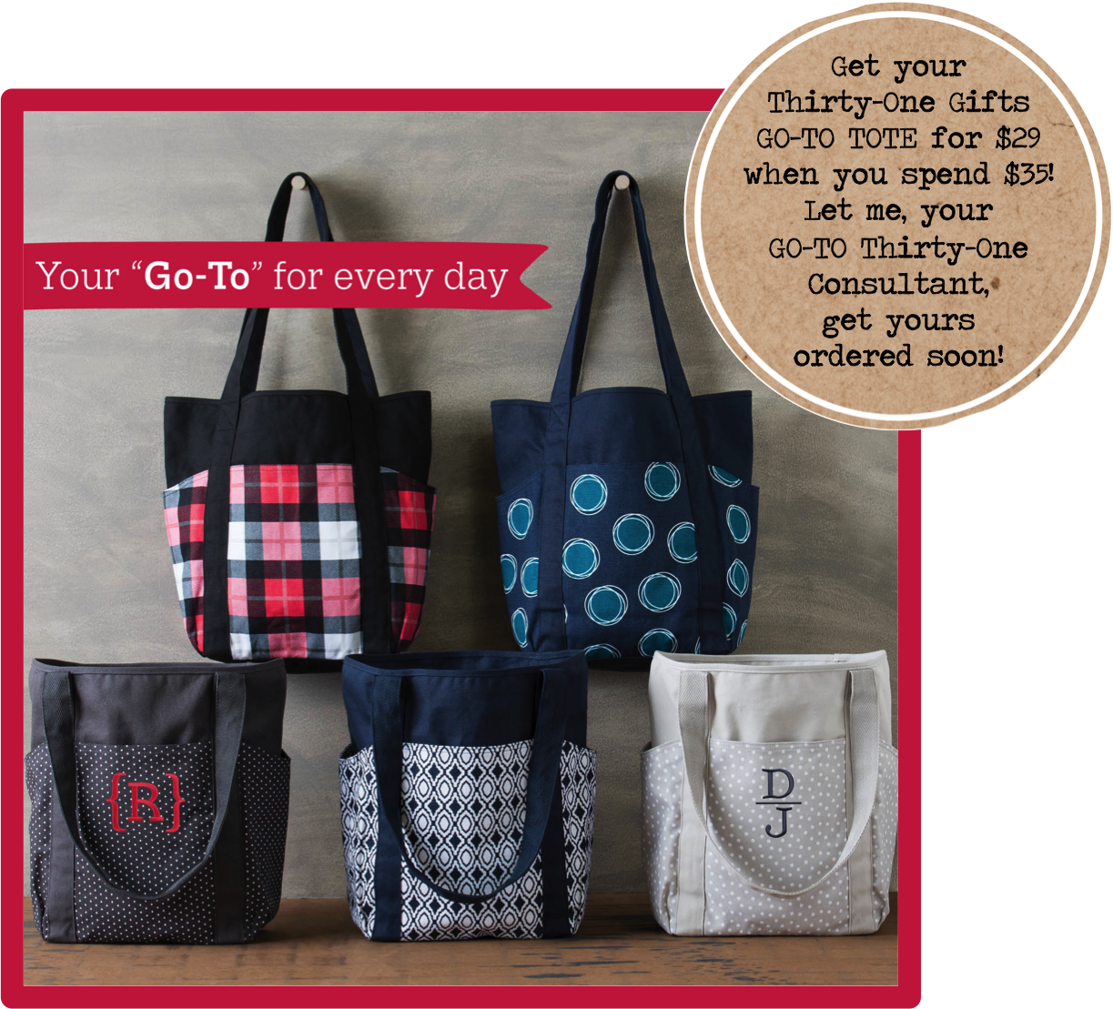 Thirty One Gifts Go To Tote