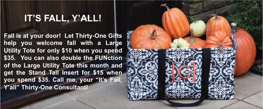 Thirty-One - Fall and a Large Utility Tote