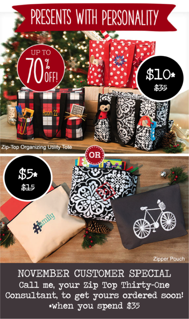 Thirty-One Gifts November Special