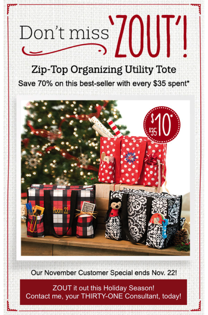 Thirty-One Gifts ZOUT