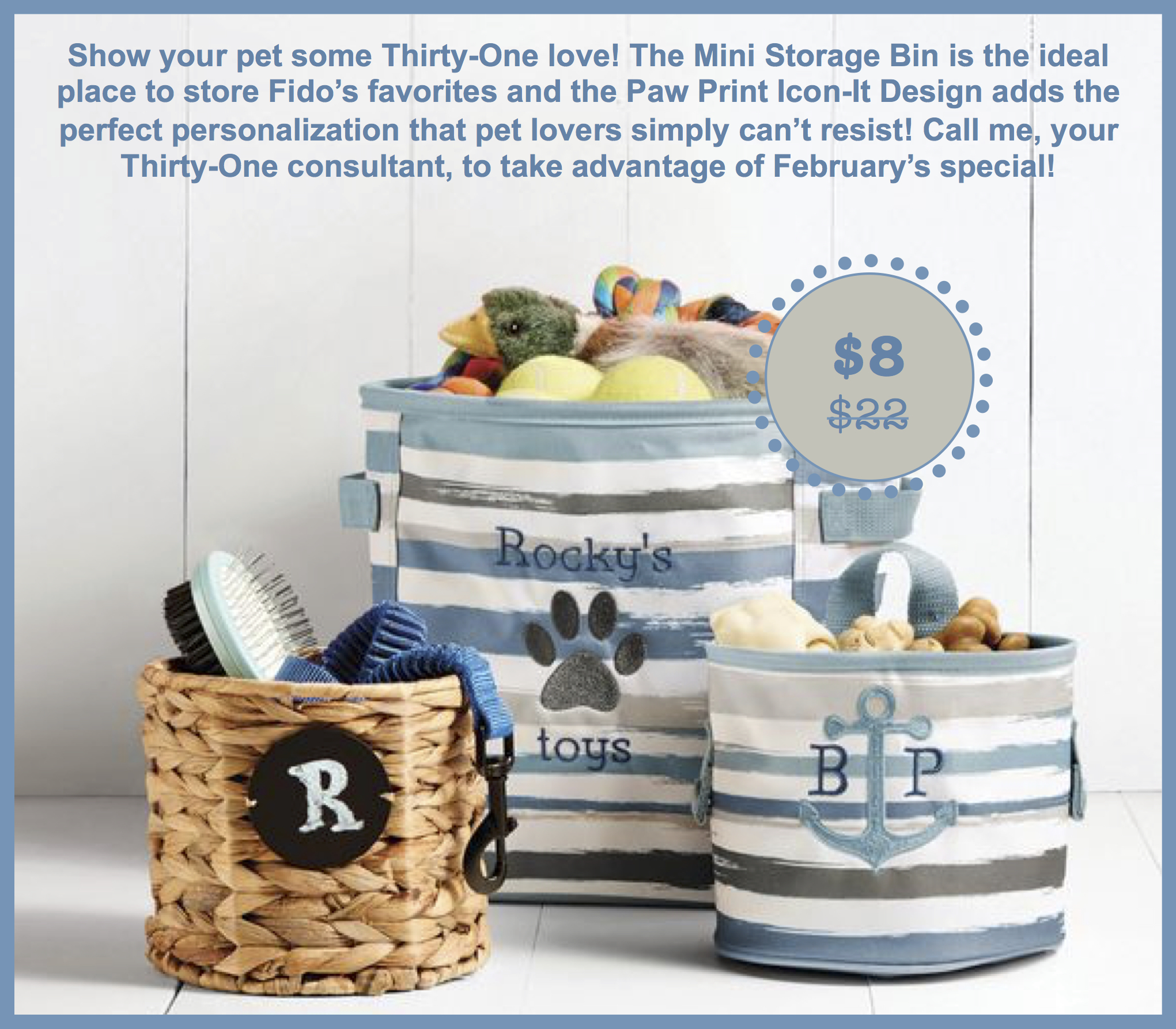 Mini Storage Bin Thirty One Gifts