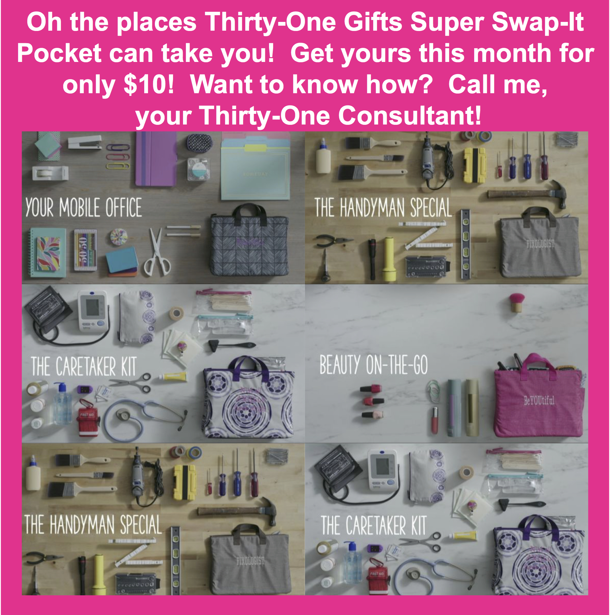 Thirty one november customer special 2014 - Thirty One Gifts Super Swap It Pocket
