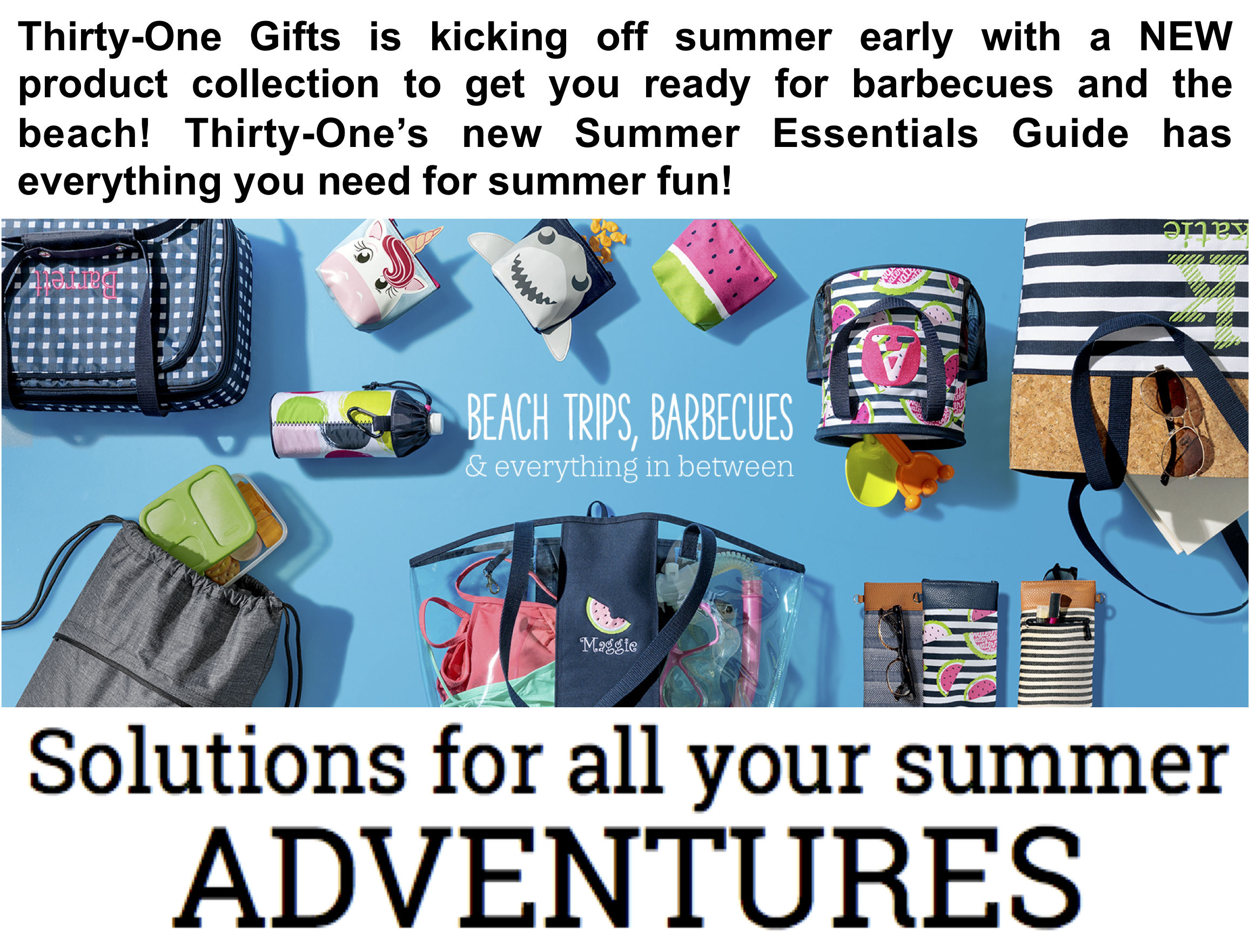 Thirty-One Gifts Summer Essentials