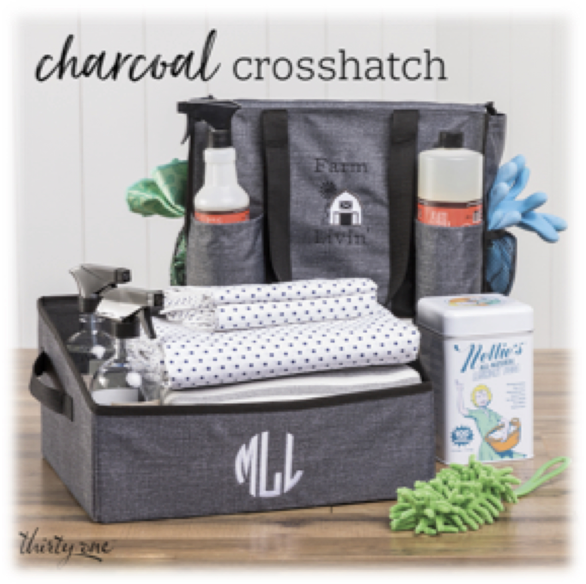 Thirty-One Gifts – Charcoal Crosshatch