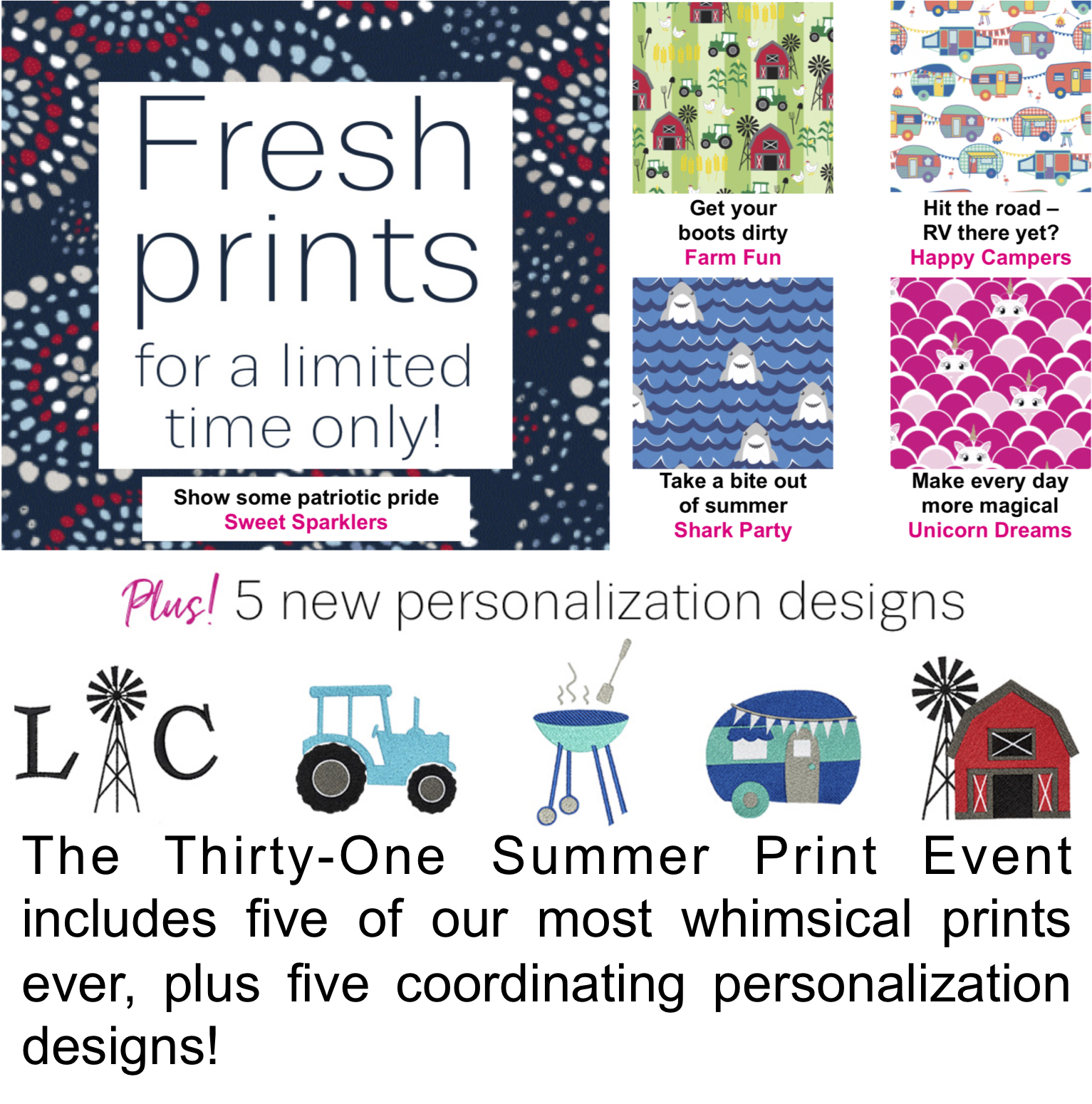 Thirty-One Summer Print Event
