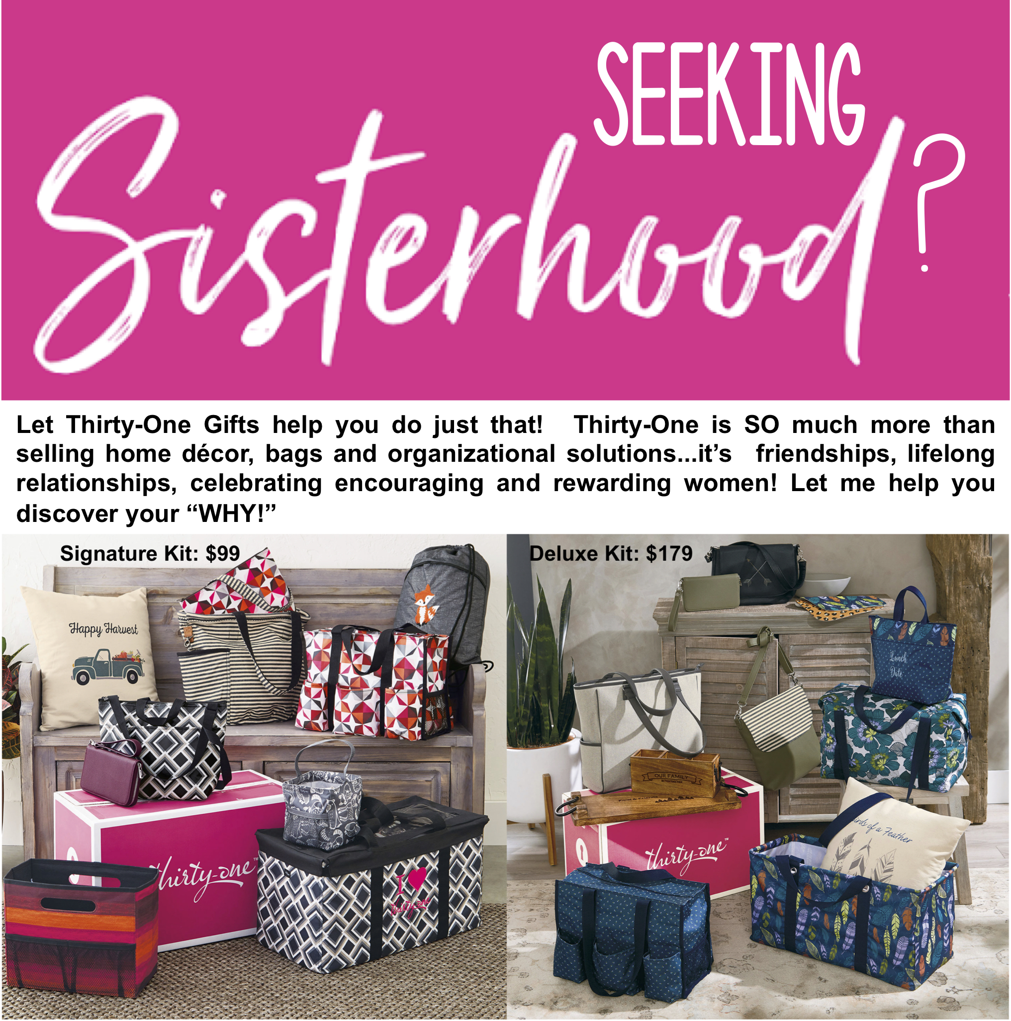 Thirty-One Gifts - Discover your WHY