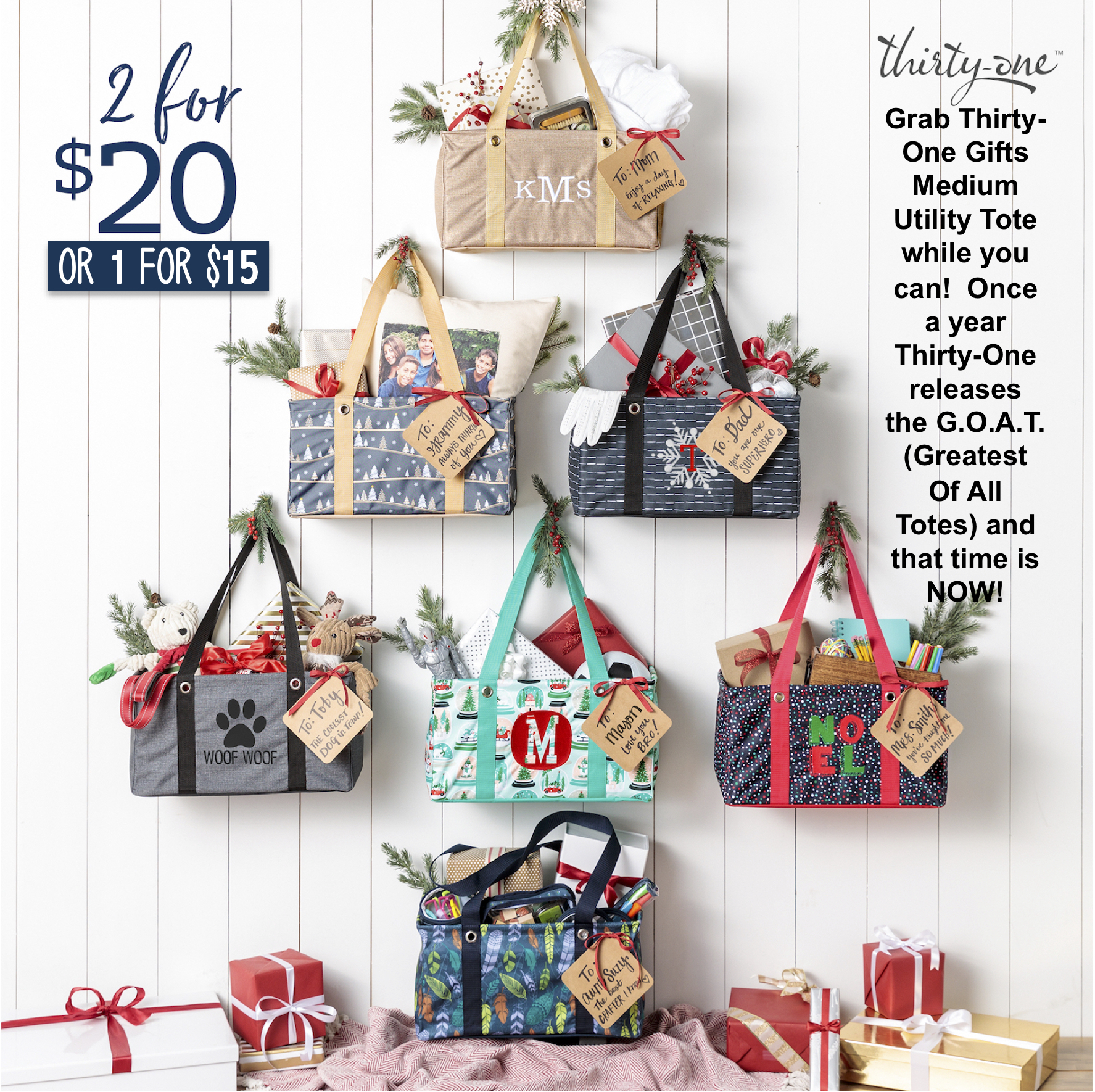 Thirty-One Gifts - Medium Utility Tote