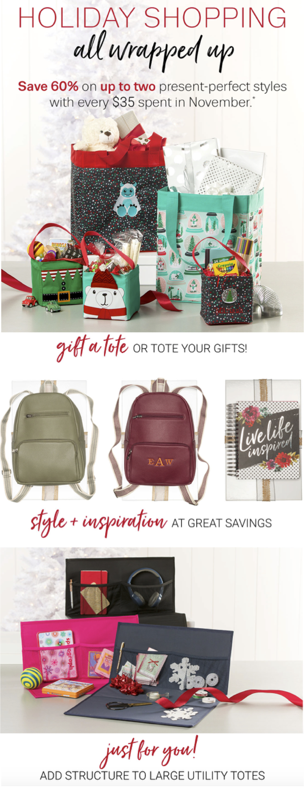 Thirty-One Gifts Holiday Shopping