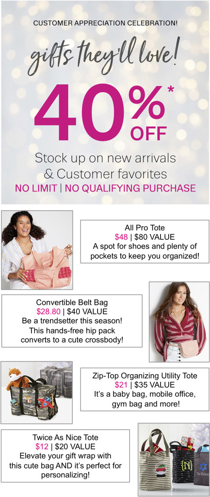 Thirty-One Gifts 40 Per Cent Off