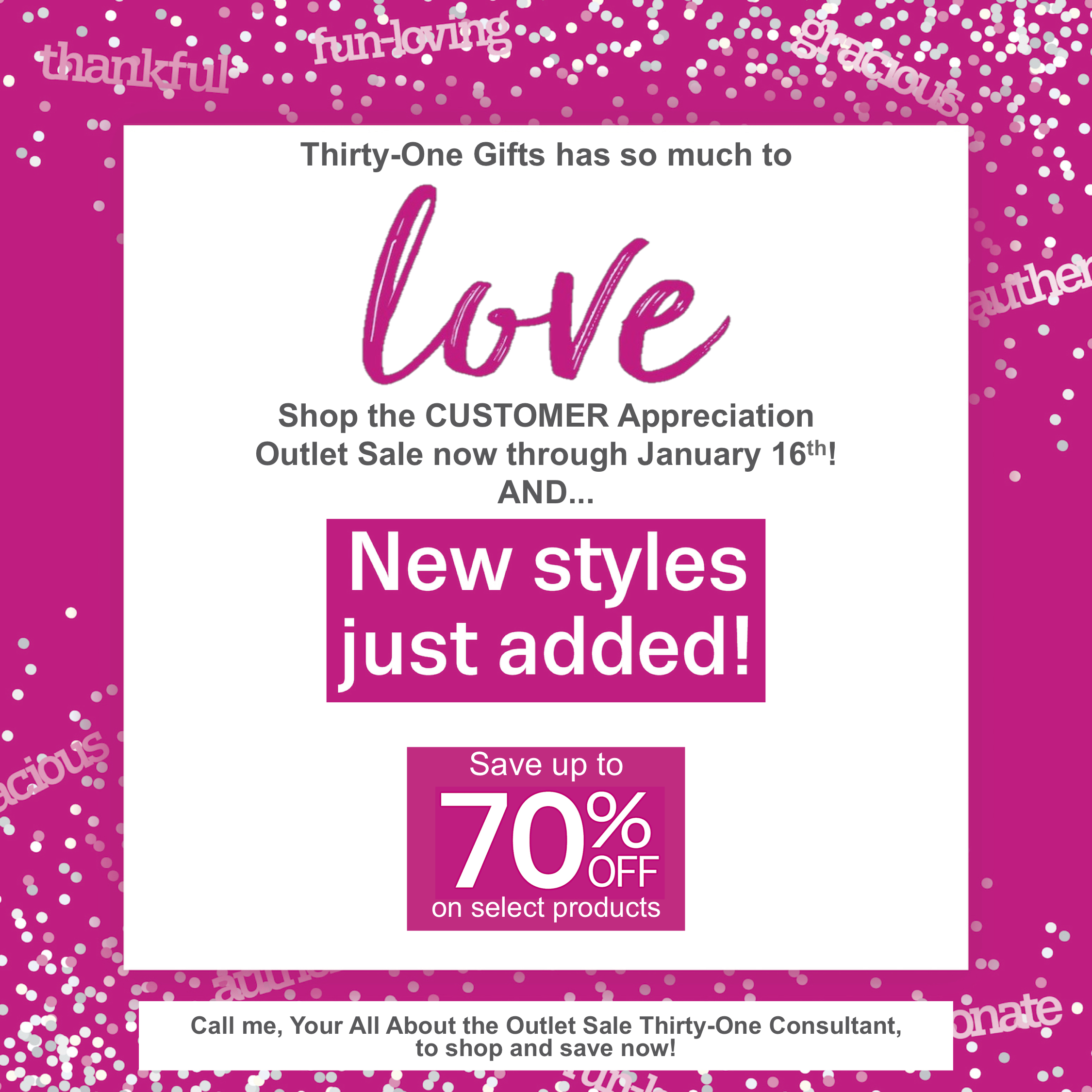 Thirty-One Gifts Customer Appreciation Sale2